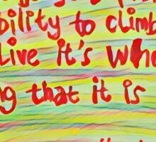 einstein quotes Sticker