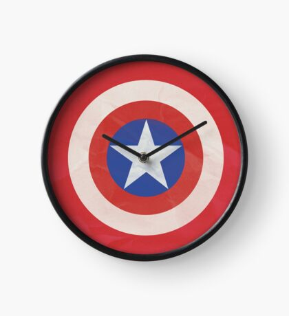 Captain America Simple Logo T-Shirt Clock