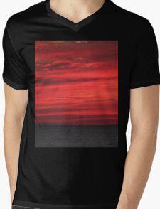 Red Sky at Night Mens V-Neck T-Shirt