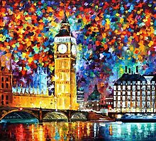 Big Ben, London — Buy Now Link - http://goo.gl/Q4PhhB by Leonid  Afremov