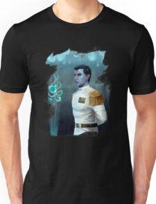Blue alien genius Unisex T-Shirt
