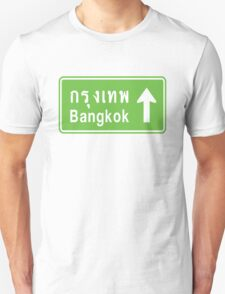 Bangkok, Thailand Ahead ⚠ Thai Road Sign ⚠ T-Shirt