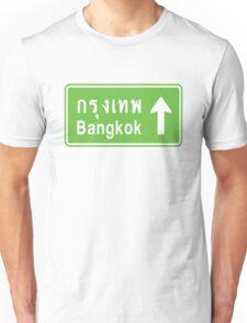 Bangkok, Thailand Ahead ⚠ Thai Road Sign ⚠ Unisex T-Shirt