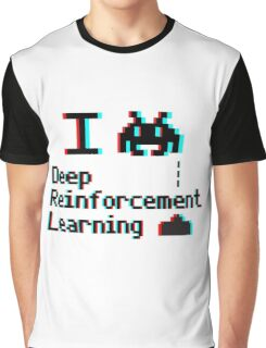 I heart deep reinforcement learning (8-bit 3D) Graphic T-Shirt
