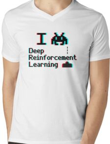 I heart deep reinforcement learning (8-bit 3D) Mens V-Neck T-Shirt