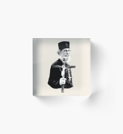 Brother Nathanael: Holding the Cross Acrylic Block