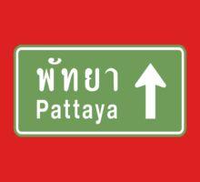 Pattaya, Thailand Ahead ⚠ Thai Road Sign ⚠ Kids Clothes