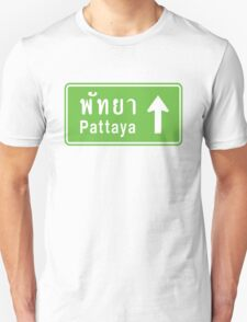 Pattaya, Thailand Ahead ⚠ Thai Road Sign ⚠ T-Shirt