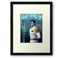 Blue alien genius Framed Print