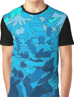 Cookie cutter animals - blue Graphic T-Shirt