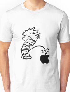Calvin Pisses On Apple Logo / Calvin & Hobbes Unisex T-Shirt