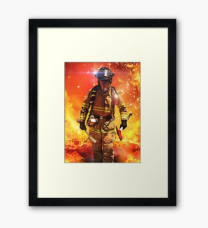 Search and Rescue Framed Print