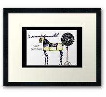 Christmas reindeer Framed Print