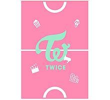 TWICE Logo PINK/Playful ver. Photographic Print