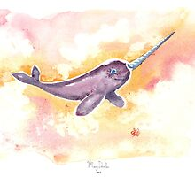 Flight of the Narwhal  by MaryDoodles