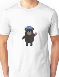 Black Bear Police Officer Unisex T-Shirt