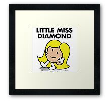 Little Miss Diamond Framed Print