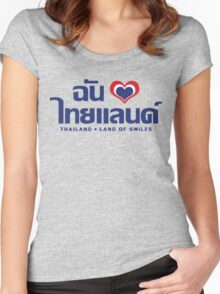 I Heart (Love) Thailand ~ Chan Rak Thailand Women's Fitted Scoop T-Shirt