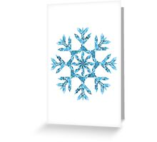 Polygonal Snowflake Greeting Card