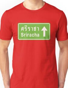 Sriracha, Thailand Ahead ⚠ Thai Traffic Sign ⚠ Unisex T-Shirt