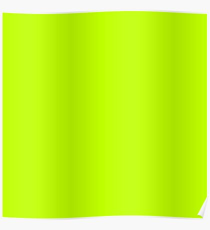 Bitter lime neon green yellow Poster