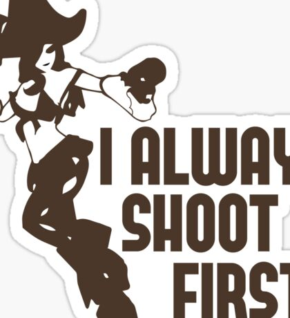 "Miss Fortune - ""I Always Shoot First"" - League of Legends Sticker"