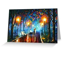 MISTY MOOD - Leonid Afremov Greeting Card