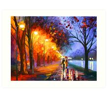 ALLEY BY THE LAKE - Leonid Afremov Art Print