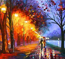 ALLEY BY THE LAKE - Leonid Afremov by Leonid Afremov