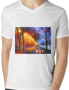 ALLEY BY THE LAKE - Leonid Afremov Mens V-Neck T-Shirt