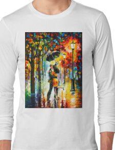 DANCE UNDER THE RAIN - Leonid Afremov Long Sleeve T-Shirt