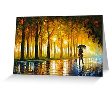 BEWITCHED PARK - Leonid Afremov Greeting Card