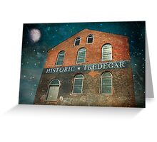 Shooting Stars Over Tredegar Greeting Card