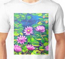 Waterlillies in Japanese Gardens Unisex T-Shirt