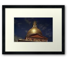 State House Dome > Framed Print