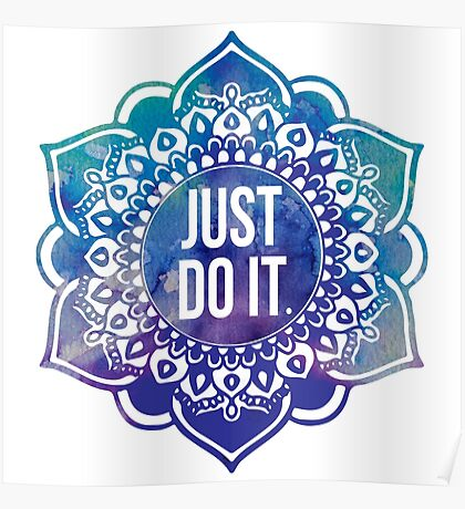 Just Do It Nike Mandala Poster