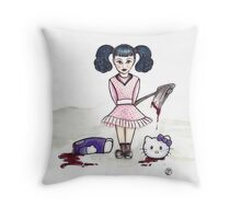 Little Miss Hatchet  Throw Pillow