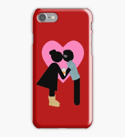 Basic College Girl and Frat Bro – Funny Valentine's Day iPhone Case/Skin