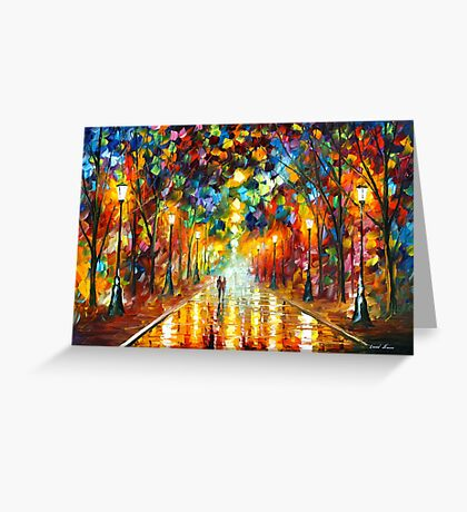FAREWELL TO ANGER - Leonid Afremov Greeting Card