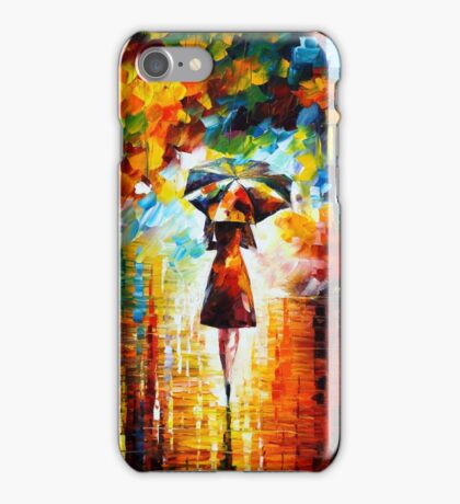 rain princess - Leonid Afremov iPhone Case/Skin