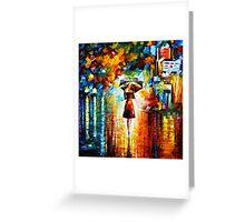 rain princess - Leonid Afremov Greeting Card