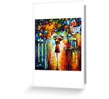 rain princess - Leonid Afremov Greeting Card