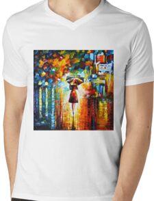 rain princess - Leonid Afremov Mens V-Neck T-Shirt