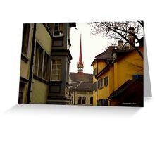 Colour in Zurich Rennweg Greeting Card