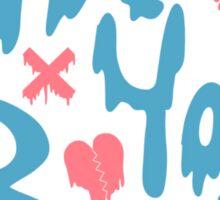 """Feminist """"Not Your Babe"""" Slime Logo Sticker"""