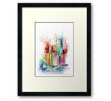 glasses with wine Framed Print