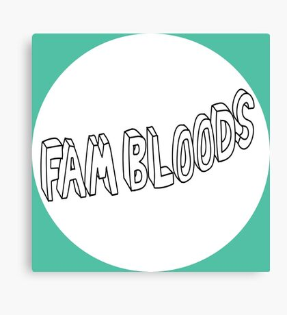 Fam Bloods Podcast (Logo) Canvas Print