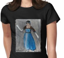 Modeling Her New Harem Outfit Womens Fitted T-Shirt