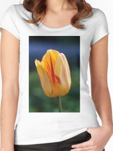 Yellow tulip flower Women's Fitted Scoop T-Shirt