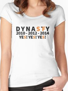 DYNASTY San Francisco Giants 10 12 14 Yes Yes YES 3 World Series  Women's Fitted Scoop T-Shirt